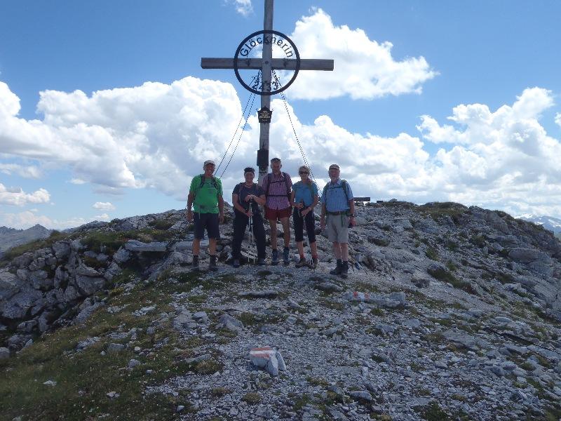 Alle am Gipfel der Glöcknerin 2432 m