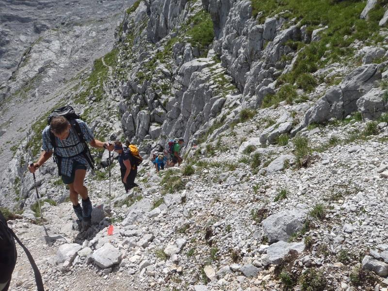 Im Aufstieg zum Hinterhorn
