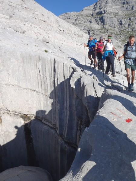 Doline beim Aufstieg zum Gr. Ochsenhorn