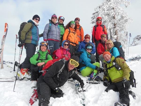 Skitourengruppe (Foto Reiner)