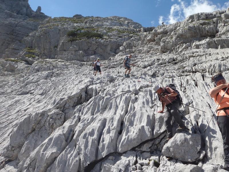Im Abstieg vom Ochsenhorn auf dem Schärdinger Steig