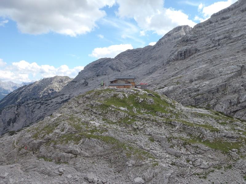 Die Hütte in Sicht