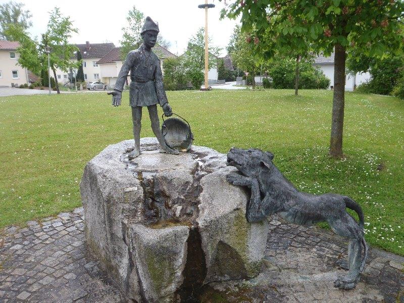 Denkmal des h. Vitus, Schutzpatron einer Kapelle in Schambach
