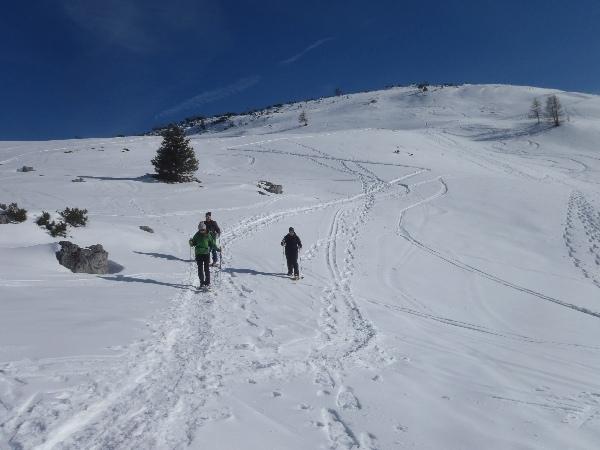 Sanftes Schneeschuhgelände