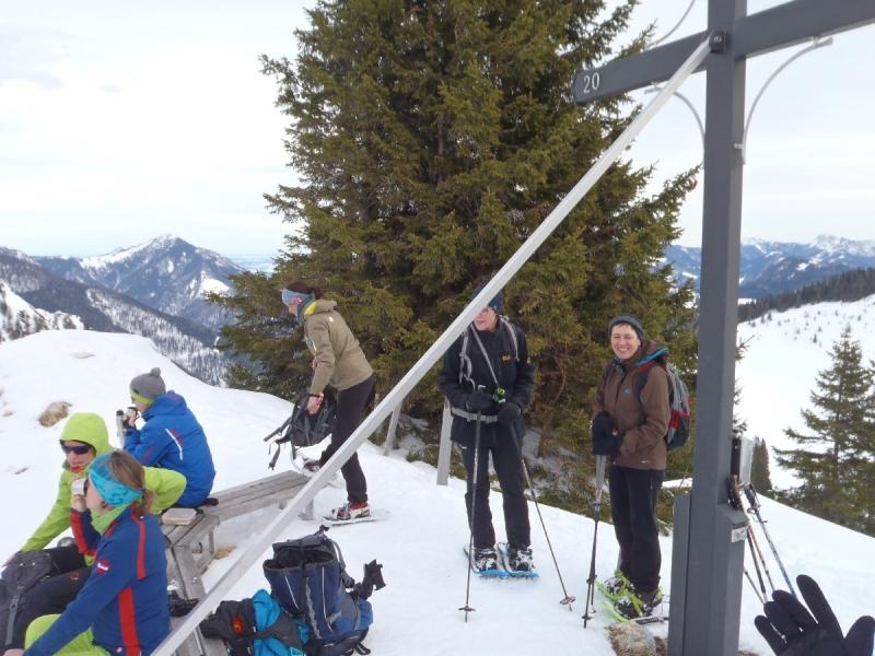 Die DAV-Gruppe bei der Gipfelrast