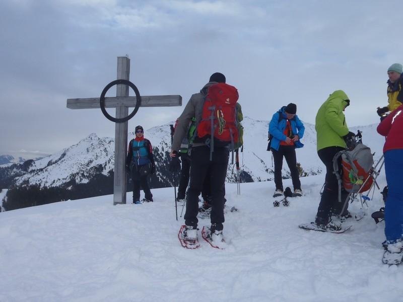 Am Gipfel des Lanser Kreuz